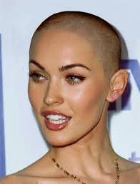 short hairstyles for women with big heads megan fox shaved head shaved hair short hair hairstyle