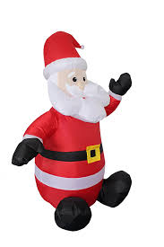 Blow Up Holiday Decorations Amazon Com 4 Foot Christmas Inflatable Santa Claus Blow Up Yard