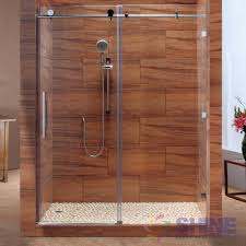 Wood Shower Door by Sd Frameless Sliding Shower Door Shine Bathrooms