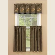 Sunflower Valance Curtains Country Valance Curtains Sunflower Check Lined Valance 58
