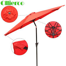 Aluminum Patio Umbrella by Ollieroo Patio Umbrella Tan Aluminum Patio Market Umbrella Tilt