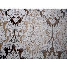 Drapery And Upholstery Fabric Ivory Antique Gold Chenille Damask Curtain Fabric Upholstery