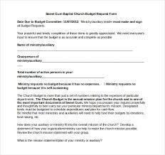 10 church budget templates u2013 free sample example format