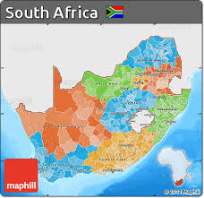 africa map color free political map of south africa single color outside