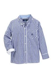 andy u0026 evan blue gingham long sleeve button down shirt toddler