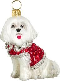 pet set crystal maltese christmas dog ornament u2013 for the love of