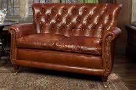 canap anglais cuir canapé anglais 2 places coleridge en cuir longfield 1880