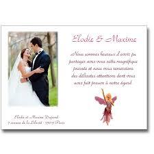 modele remerciement mariage remerciement mariage conte de fées lutin faire part