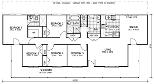 floor plan for one story house plans 4 bedroom house plans with basement