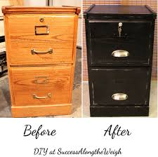 Orange Filing Cabinet Success Along The Weigh Diy Project Refinishing A File Cabinet
