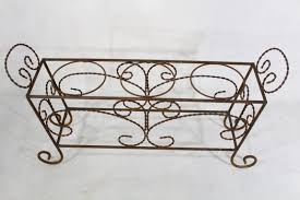 Wall Mounted Flower Pot Holder Plant Stand Wrought Iron Pot Stand Standing Rack Antique Flower