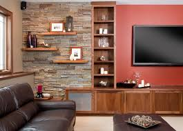 Wooden Gallery Shelf by Wall Shelves Design Floating Shelves On Brick Wall Design