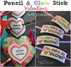glow stick u0026 pencil valentine ideas free printables glow