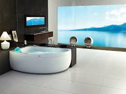 free standing bathtub corner hydromassage chromotherapy