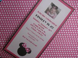 colors exquisite minnie mouse birthday invitations templates