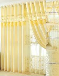 Yellow Patterned Curtains Yellow Lace Floral Patterned Mission Style Curtains