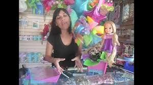 centro de mesa facil para fiesta rapunzel enredados tangled party