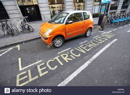 electric vehicles electric vehicles parking bay and car charging point london