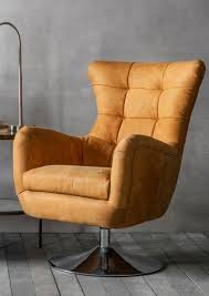 Leather Swivel Chair Grayson Tan Leather Swivel Chair