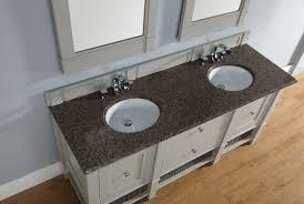Madison Bathroom Vanities Abstron 72 Inch Dove Grey Finish Bathroom Vanity Stone Countertop