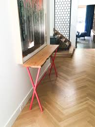 reclaimed wood entry table furniture bereclaimed