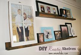 easy diy rustic shelves a mom u0027s take