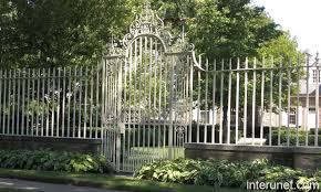 wrought iron fence on brick wall search fences