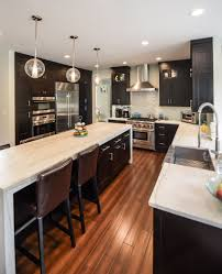espresso kitchen cabinets with white quartz countertops espresso kitchen cabinets with white quartz countertops