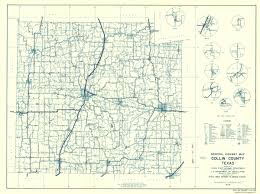 Texas State Road Map by Old County Map Collin Texas Highway Highway Dept 1936