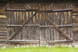 Barn Door Gate by Big Old Wooden Gate To The Barn Stock Photo Picture And Royalty