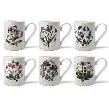 portmeirion botanic garden coffee mug set 6pce peter u0027s of
