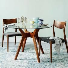 coastal dining room round glass wood dining table u2013 remodelaholic