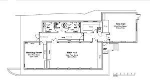 02 floor plan carnon downs village hall u2013 floor plan