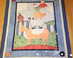 Farm Animals Crib Bedding by Farm Animals Quilt Etsy