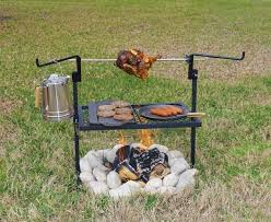 Cooking Fire Pit Designs - stunning cowboy fire pit rotisserie grill fire pit design ideas