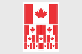 Canada Flag Colors Canada Flag Stickers