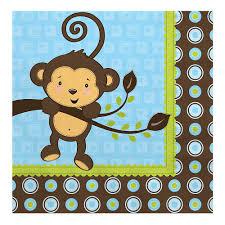 monkey boy baby shower monkey boy baby shower luncheon napkins 16 ct