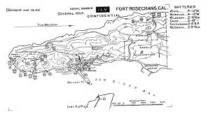 Naval Base San Diego Map by Historic California Posts Fort Rosecrans