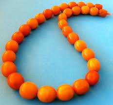 orange beaded necklace images Orange bead necklace prettyugly me jpg
