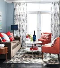 Beautiful Red Sofas In The Living Room Mondays Room And - Red and blue living room decor