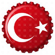 Turkey National Flag Turkey Stylized Flag On Bottle Cap Royalty Free Vector Clip Art