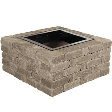 How To Build A Square Brick Fire Pit - fire pit kits hardscapes the home depot
