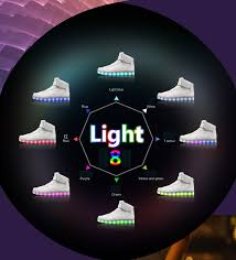 light up shoes that change colors multi led light up high low white black shoes size 37 46 hip hop