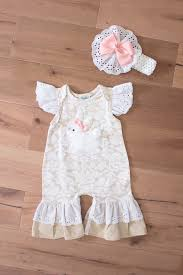 thanksgiving infant headbands peaches n cream bunny romper u0026 headband set spring 2017 easter