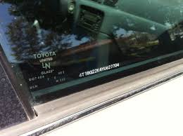 lexus vin number identification window etching hmmm toyota nation forum toyota car and truck