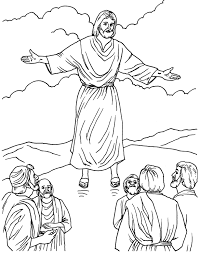 coloring page of jesus ascension the ascension coloring page