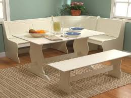 dining white corner nook kitchen table breakfast nooks