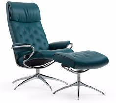 reclining back chair with ottoman stressless by ekornes stressless metro high back recliner and