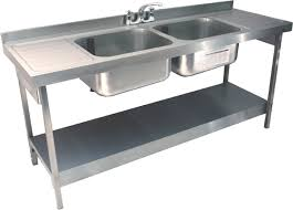 double drainer kitchen sink double bowl double drainer sink c w stand 4 tap holes as standard
