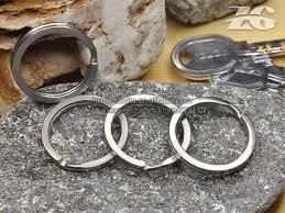 titanium key rings images Titanium metal key ring titanium key buckle titanium key chain in jpg